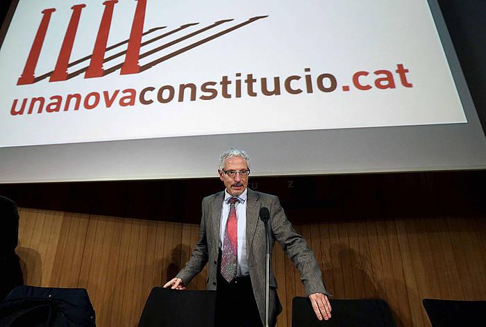 Santiago Vidal epailea, aurkezpenean. ©Alberto Estevez / EFE