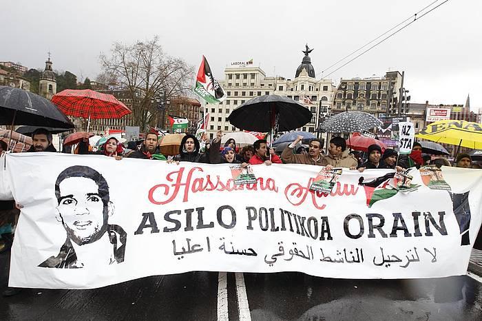 Hassana Aaliaren aldeko manifestazioa, Bilbon. ©/ Argazki Press