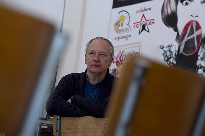 Kataluniako CGT sindikatuko kidea da Emilio Cortavitarte. ©Iñigo Uriz / Argazki Press