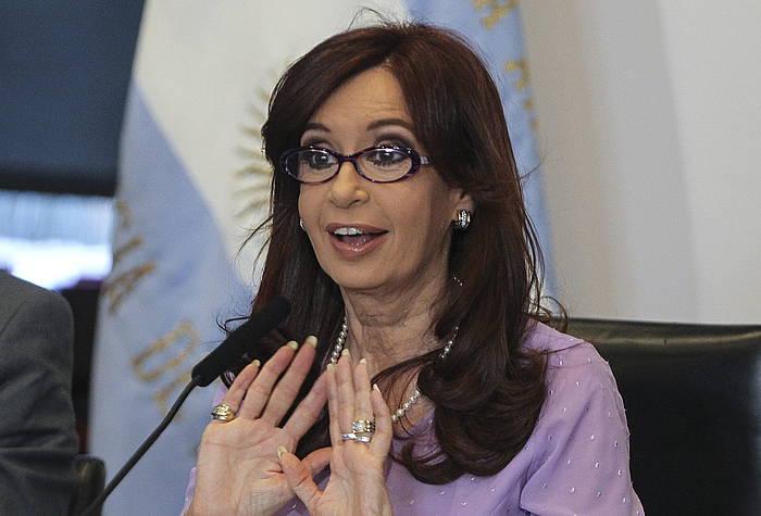Cristina Fernandez Argentinako presidentea. ©David Fernandez / EFE