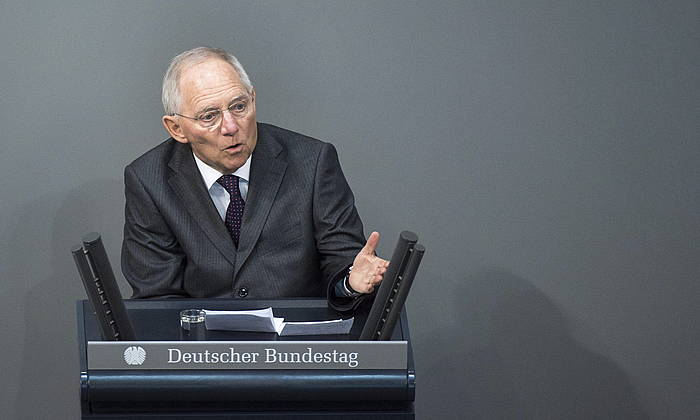 Wolfgang Schauble, Alemaniako Finantza ministroa./ ©TIM BRAKEMEIER, EFE