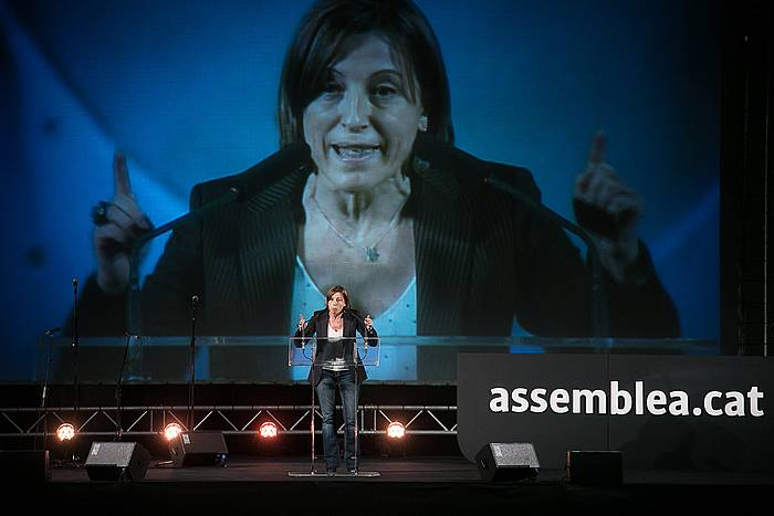 Carme Forcadell ANCko presidentea, Cornella de Llobregateko ekitaldian./ ©Albert Garcia, Efe