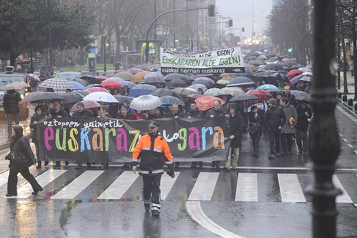 Kontseiluak Donostian deitutako manifestazioaren irudi bat./ ©Jon Urbe / Argazki Press