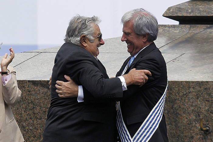 Jose Mugica eta Tabare Vazquez. ©Hugo Ortuño / EFE