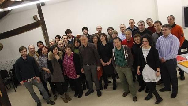 EAEko Podemos-Ahal Duguko zuzendaritzako kideak, otsailaren 20an, Durangon. ©