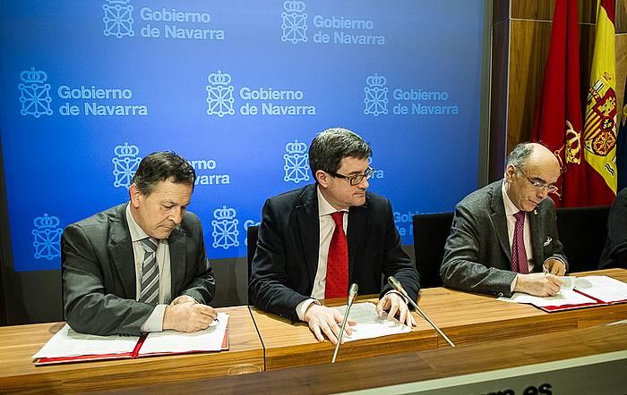 Nafarroako Gobernuaren eta Euskaltzaindiaren arteko akordioaren sinatze ekitaldia./ ©Jagoba Manterola, Argazki Press