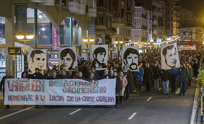 Sindikatuek deituta, manifestazio jendetsua izan zen Gasteizen./ ©Juanan Ruiz, Argazki Press