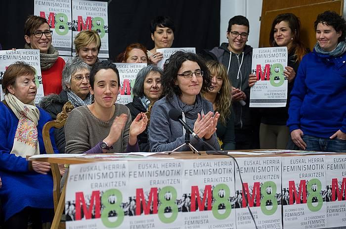 Datorren igandeko mobilizazioetan parte hartzeko deia egin dute Euskal Herriko mugimendu feministek. ©Iñigo Uriz / Argazki Press