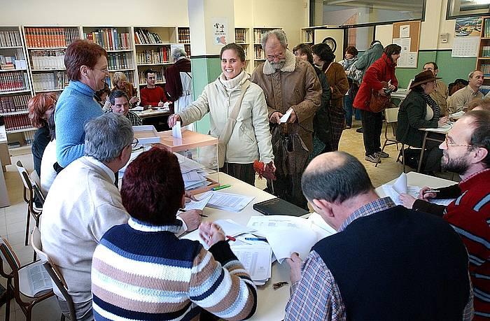 Hauteskunde sindikalak Gasteizko ikastetxe batean./ ©Juanan Ruiz, Argazki Press