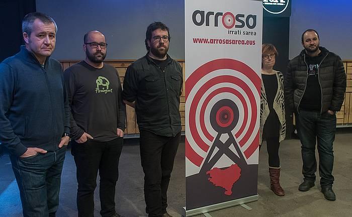 Arrosa Irrati Sareak, Antxeta Irratiak eta euskalgintzako eragileak, gaur. ©Andoni Canellada / Argazki Press