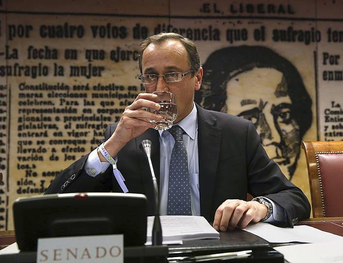 Alfonso Alonso Espainiako Osasun ministroa eta Gasteizko alkate ohia. ©Zipi / EFE