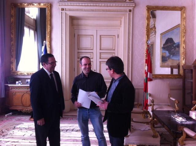 Iñigo Pombo, Jon Albizu eta Jose Zalakain. ©/ Hodei Iruretagoiena