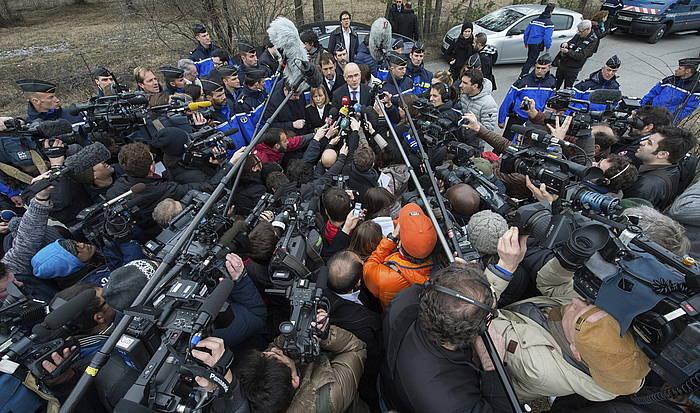 Germanwings hegazkinaren amiltzeaz Marseillako fiskala azalpenak ematen./ ©PETER KNEFFEL, EFE