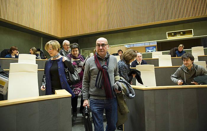 Martin Garitano Gipuzkoako ahaldun nagusia, iazko bilkura batean. ©Juan Carlos Ruiz / Argazki Press