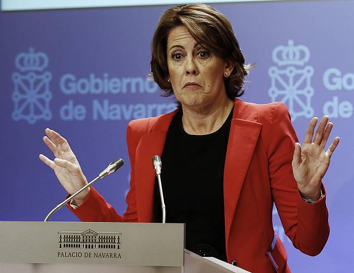 Yolanda Barcina Nafarroako lehendakaria./ ©Jesus Diges, Efe