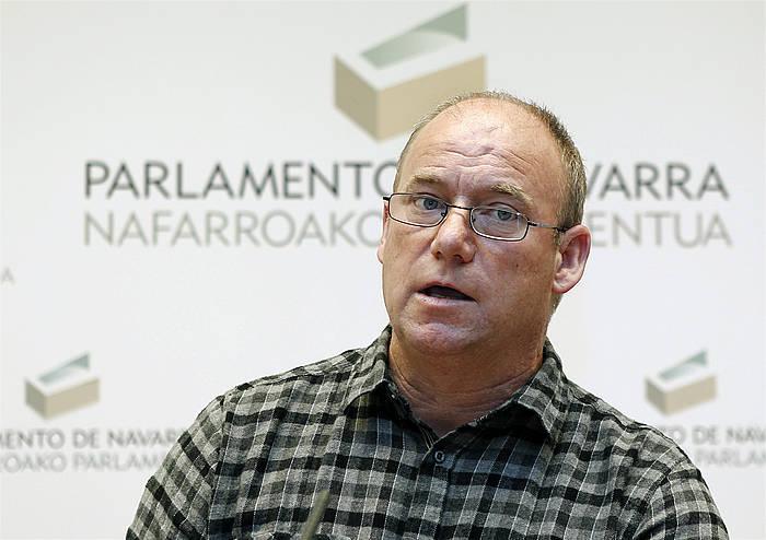 Txentxo Jimenez, Nafarroako Parlamentuan. / ©Jesus Diges, Efe
