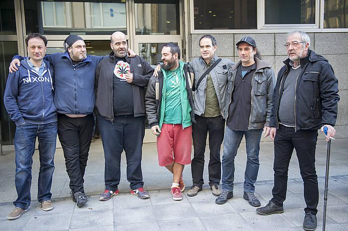 Pannagh elkarteko kideak, epaiketaren egunean. ©Marisol Ramirez / Argazki Press