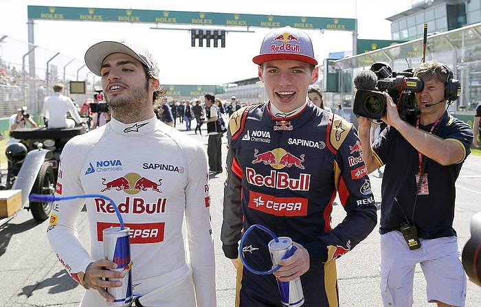 Carlos Sainz (20 urte) eta Max Verstappen (18) Toro Rosso taldeko gidariak. 1 Formulako gazteenak dira./ ©SRDJAN SUKI, EFE