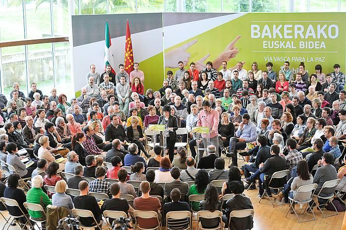 EH Bilduk gaur Donostian egindako aurkezpena. ©Idoia Zabaleta / Argazki Press