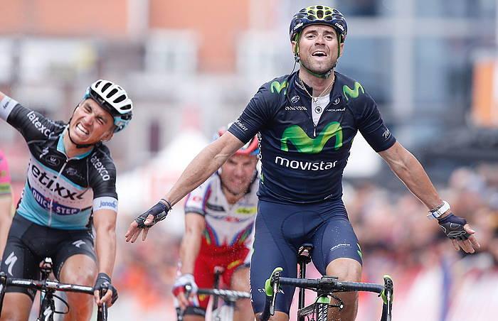 Valverdek esprintean gainditu ditu Alaphilippe eta Rodriguez. ©Julien Warnand / EFE