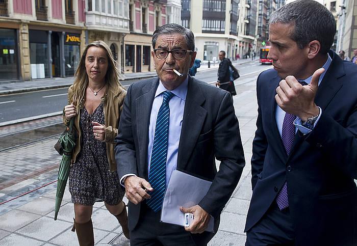 Mario Fernandez Cabieces auzian deklaratzera joan zenean, hilaren 16ean. / ©Luis Jauregialtzo, Argazki Press