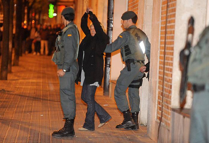 Arantxa Zulueta abokatua, 2010ean atxilotu zutenean./ ©Monika del Valle, Argazki Press