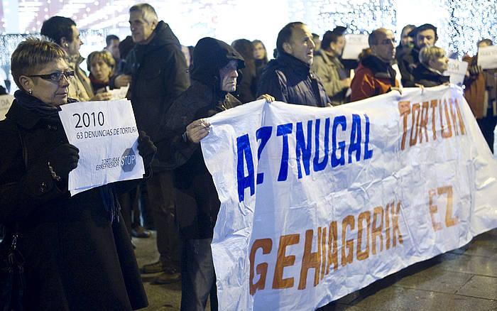 Torturaren kontra Iruñean eginiko elkarretaratze bat./ ©Jagoba Manterola / Argazki Press