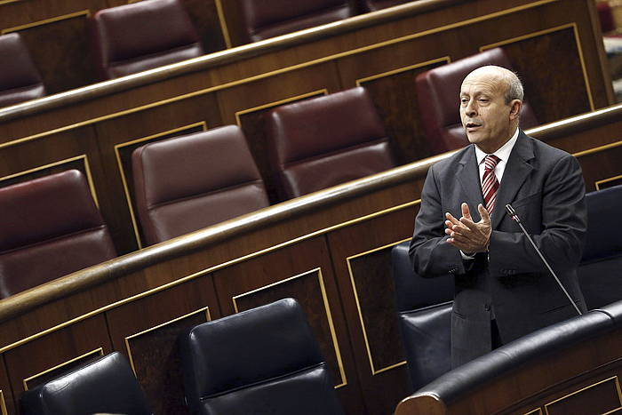 Jose Ignacio Wert Espainiako Hezkuntza ministroa, Kongresuan. / ©Javier Lizon, Efe