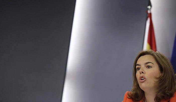 Soraya Saenz de Santamaria, Espainiako Gobernuko presidenteordea. ©Angel Diaz / EFE