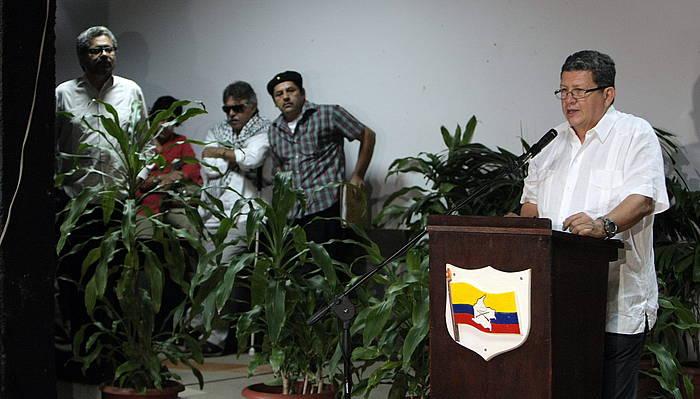 FARCeko komandante Jorge Torres Victoria, 'Pablo Catatumbo', apirilean. ©Ernesto Mastrascusa / EFE