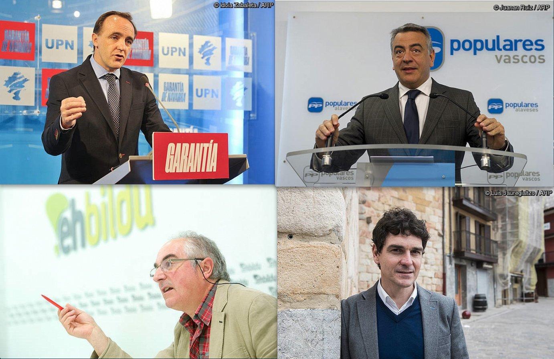 Javier Esparza, Javier de Andres, Xabier Olano eta Unai Rementeria. ©Juan Carlos Ruiz, Idoia Zabaleta, Luis Jauregialtzo, Juanan Ruiz / Argazki Press