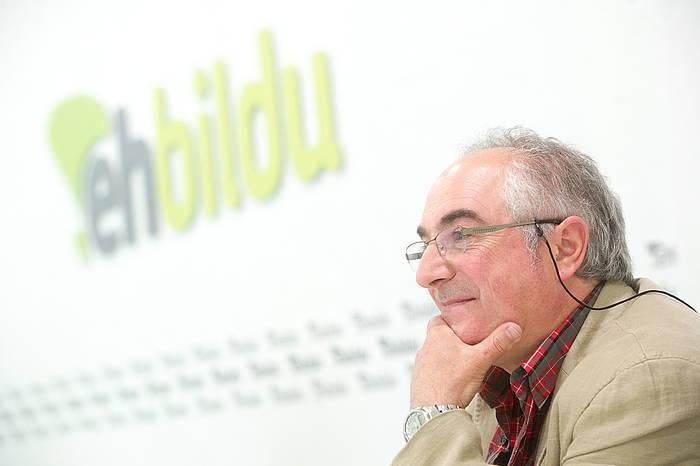 Xabier Olano, EH Bilduren Gipuzkoako ahaldungai nagusia. ©Juan Carlos Ruiz / Argazki Press