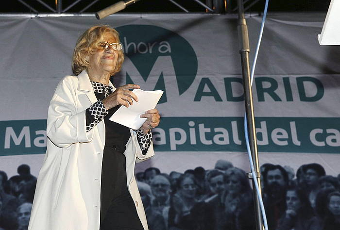 Manuela Carmena Madrilgo alkate izan daiteke PSOEk babesten badu. / ©Alberto Martin, Efe