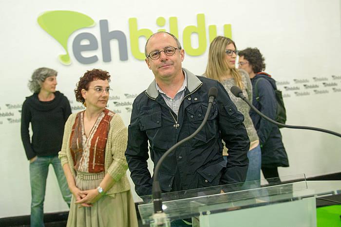 Juan Karlos Izagirre, bozen osteko agerraldian. / ©Juan Carlos Ruiz, Argazki Press
