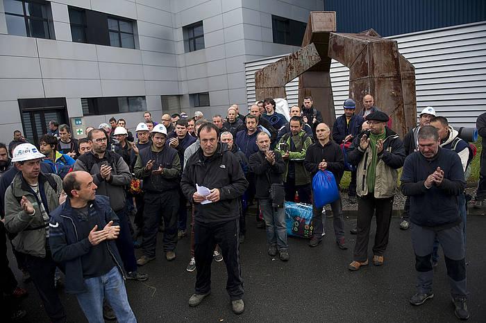 TS-ko langileen itxialdiaren amaiera./ ©Juan Carlos Ruiz, Argazki Press