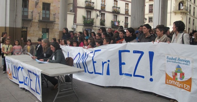 Ordizian LOMCEren kontra eginiko protesta./ ©Goierriko Hitza