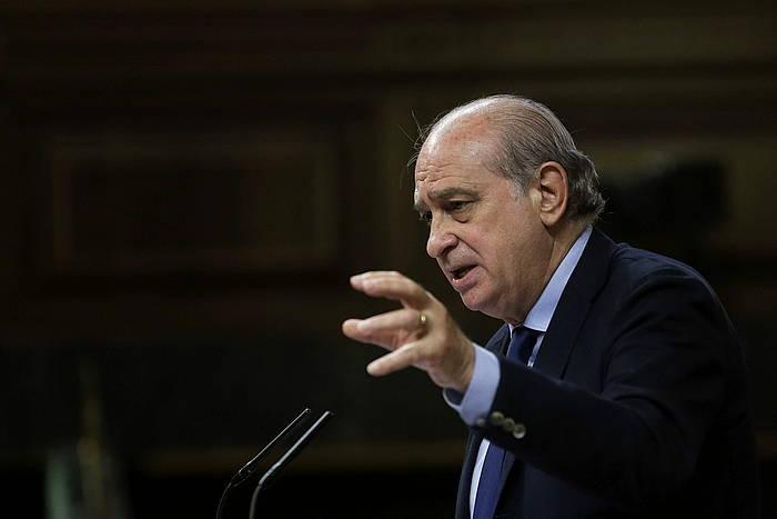 Jorge Fernandez Diaz Barne ministroa, Espainiako Kongresuan./ ©Emilio Naranjo, Efe