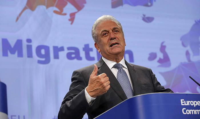 Dimitris Avramopoulos Europako Batasuneko Immigrazio komisarioa. ©Olivier Hoslet / EFE