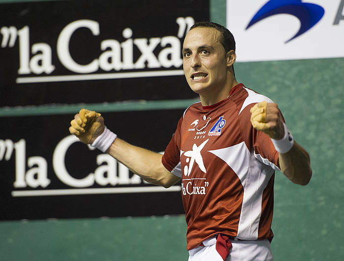 Juan Martinez de Irujo pilotaria./ ©Monika del Valle, Argazki Press