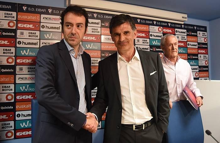 Alex Aranzabal eta Jose Luis Mendilibar. ©Argazki Press