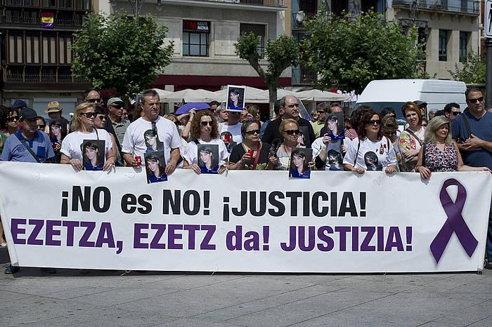 Nagore Laffageri omenaldia Iruñean. ©Iñigo Uriz / Argazki Press