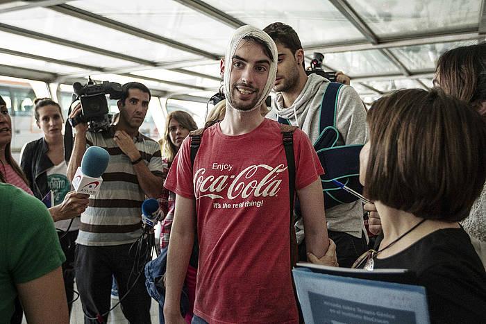 Istripua izan zuten gazte gehienak atzo iritsi ziren Loiura./ ©ARITZ LOIOLA/ ARGAZKI PRESS