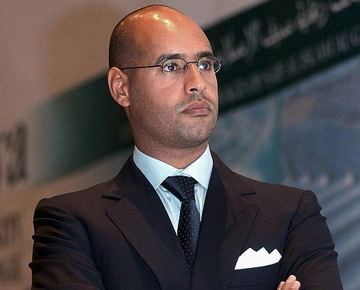 Seif al Islam Gadafi, artxiboko irudi batean./ ©SABRI ELMHEDWI, EFE