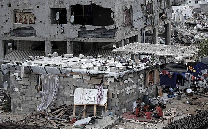 Iazko erasoaldian suntsitutako etxe bat, Gazan. ©Mohammed Saber / EFE