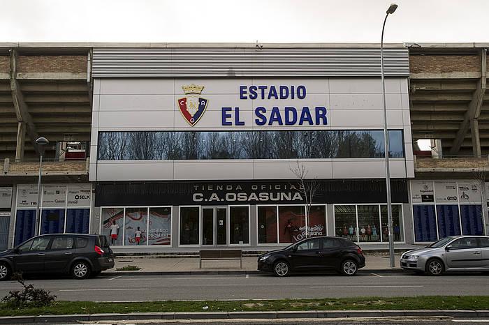 Sadar estadioaren kanpoaldea./ ©Iñigo Uriz, Argazki Press
