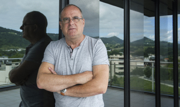 Joseba Egibar, joan den asteartean, Donostian, EAJren GBBko egoitzan. ©/ Jon Urbe, Argazki Press