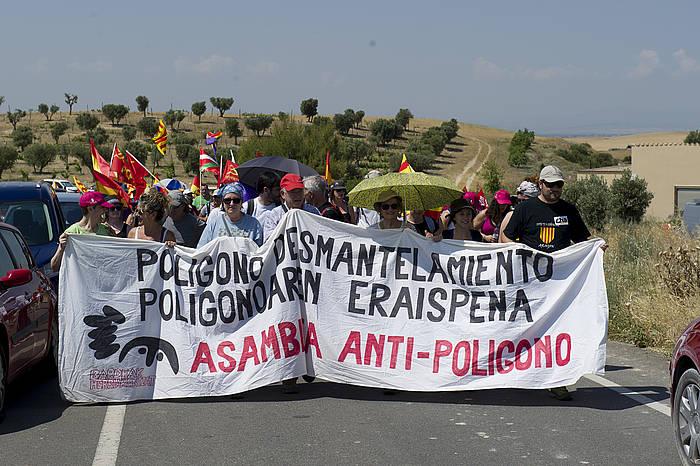 Bardeetako tiro eremua desegitzearen aldeko manifestazioa, joan den ekainean. ©Iñigo Uriz / Argazki Press