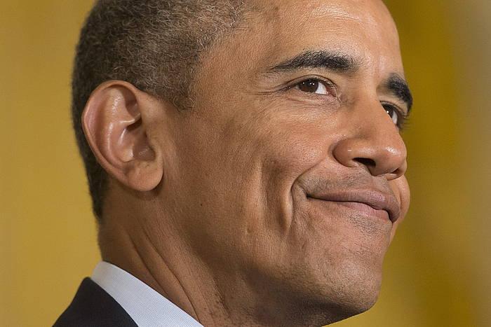 Asteburua kanpoan pasa ondoren, Etxe Zurira itzuli da Barack Obama./ ©Mike Theiler, EFE