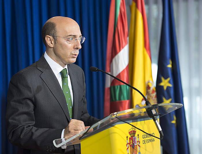 Carlos Urkijo, artxiboko irudi batean. ©Adrian Ruiz de Hierro / EFE