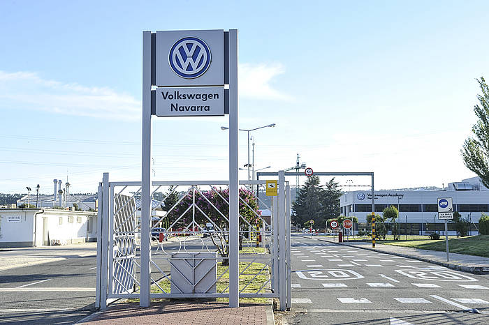 Landabengo Volkswagen enpresan izan da istripua. ©Idoia Zabaleta / Argazki Press